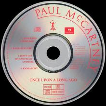 1987 11 16 ONCE UPON A LONG AGO - PAUL McCARTNEY DISCOGRAPHY - CDR 6170 - 5 099920 218720 - UK - pic 1