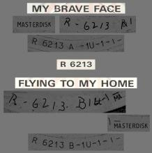 """1989 05 08 - PAUL MCCARTNEY - MY BRAVE FACE ⁄ FLYING TO MY HOME - UK 7"""" TEST PRESSING - pic 1"""