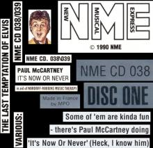 1990 03 24 FR The Last Temptation Of Elvis - It's Now Or Never ⁄ NME CD 038⁄039 - pic 1