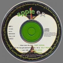 1991 10 21 - THE APPLE EP - CD APPS 1 ⁄ 2045512 - 5 099920 455101 - APP 1 - pic 1