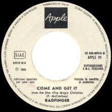 1969it Come And Get It - Badfinger -promo- 3C 006 - 90916 M / APPLE 20 - pic 1