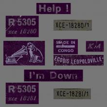 BEATLES DISCOGRAPHY CONGO - 1965 07 23 - R 5305 - HELP / I'M DOWN Down  R5305 - pic 1