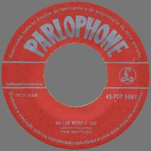 BEATLES DISCOGRAPHY PORTUGAL 010 - WE CAN WORK IT OUT / DAY TRIPPER - PDP 5081 - pic 1