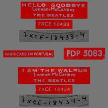 BEATLES DISCOGRAPHY PORTUGAL 030 A - HELLO GOODBYE / I AM THE WALRUS - PDP 5083 - pic 1