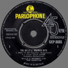 BILLY J. KRAMER WITH THE DAKOTAS - DO YOU WANT TO KNOW A SECRET ⁄ I'LL BE ON MY WAY ⁄BAD TO ME ⁄ I CALL YOUR NAME - GEP 8885 - U - pic 1
