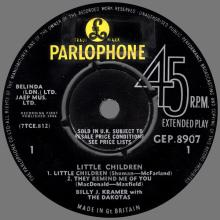 BILLY J. KRAMER WITH THE DAKOTAS - I CALL YOUR NAME - GEP 8907 - UK - EP - pic 1