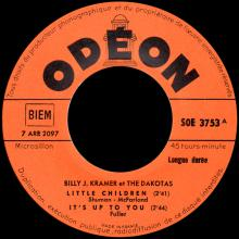 BILLY J. KRAMER WITH THE DAKOTAS - I'LL KEEP YOU SATISFIED ⁄ I'LL BE ON MY WAY - SOE 3753 - FRANCE - EP - pic 1