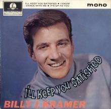 BILLY J. KRAMER WITH THE DAKOTAS - I'LL KEEP YOU SATISFIED - GEP 8895 - UK - EP - pic 1