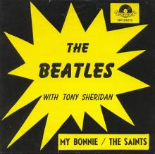 Beatles Discography Belgium 002 My Bonnie ⁄ The Saints - Polydor 52 273 A - Trad . - Type 2 - pic 1