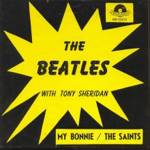 Beatles Discography Belgium 003 My Bonnie ⁄ The Saints - Polydor 52 273 A - Trad - Type 3 - pic 1