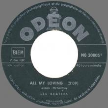 Beatles Discography Belgium 015 016 Hold Me Tight ⁄ All My Loving 7 MO 20005 - MO 20005 - pic 1