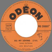 Beatles Discography Belgium 017 Hold Me Tight ⁄ All My Loving MO 20005 Orange label - pic 1
