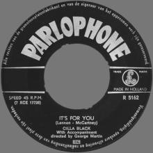 CILLA BLACK - IT'S FOR YOU - HOLLAND - R 5162 - pic 1