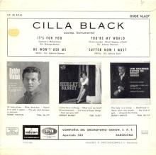 CILLA BLACK - IT'S FOR YOU - SPAIN - DSOE 16.627 - EP - B - pic 1
