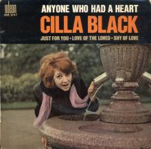 CILLA BLACK - LOVE OF THE LOVED - FRANCE - SOE 3747 - EP - pic 1