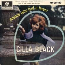 CILLA BLACK - LOVE OF THE LOVED - UK - GEP 8901 - EP - pic 1