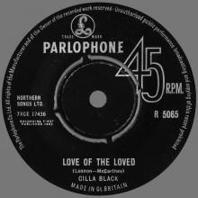 CILLA BLACK - LOVE OF THE LOVED - UK - R 5065 - CORRECT NAME CILLA - pic 1