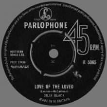 CILLA BLACK - LOVE OF THE LOVED - UK - R 5065 - MISSPELLED NAME CILIA - pic 1