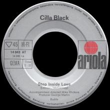 CILLA BLACK - STEP INSIDE LOVE - GERMANY - 14 043 AT    - pic 1