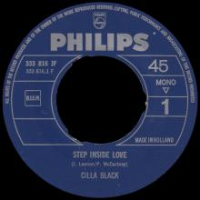 CILLA BLACK - STEP INSIDE LOVE - HOLLAND - JF 333 816 - pic 1