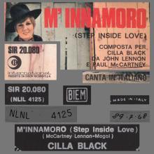 CILLA BLACK - STEP INSIDE LOVE - M'INNAMORO - SIR 20.080 - ITALY - pic 1