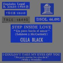 CILLA BLACK - STEP INSIDE LOVE - SPAIN - DSOL 66.091 - pic 1