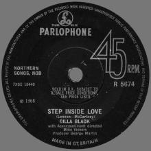 CILLA BLACK - STEP INSIDE LOVE - UK - R 5674 - pic 1