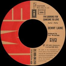 DENNY LAINE - IT'S SO EASY ⁄ LISTEN TO ME - I'M LOOKING FOR SOMEONE TO LOVE - FRANCE - 2C 006-98.233 - pic 5