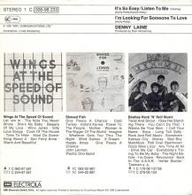 DENNY LAINE - IT'S SO EASY ⁄ LISTEN TO ME - I'M LOOKING FOR SOMEONE TO LOVE - GERMANY - 1A 006-98 233 - pic 1