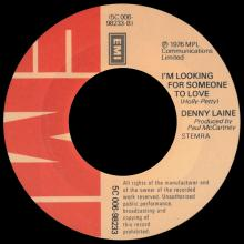 DENNY LAINE - IT'S SO EASY ⁄ LISTEN TO ME - I'M LOOKING FOR SOMEONE TO LOVE - HOLLAND - 5C 006-98233 - pic 5