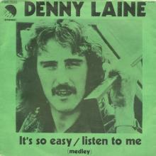 DENNY LAINE - IT'S SO EASY ⁄ LISTEN TO ME - I'M LOOKING FOR SOMEONE TO LOVE - ITALY - 3C 006-98233 - pic 1