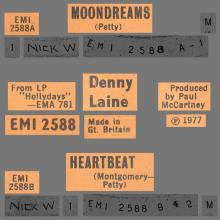 DENNY LAINE - MOONDREAMS - HARTBEAT - UK - EMI 2588 - pic 1