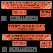 FRANCE THE BEATLES EP POLYDOR - 1962 01 26 - MISTER TWIST - 21 914 Médium - pic 1