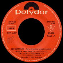 FRANCE THE BEATLES EP POLYDOR - 1964 04 19 - LES BEATLES - POLYDOR 21914 Médium - NEW RED LABEL - pic 1