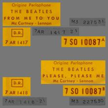 FRANCE THE BEATLES JUKE-BOX 45 - 1963 10 16 - A 2 - 7 S0 10087 - FROM ME TO YOU ⁄ PLEASE PLEASE ME - pic 1