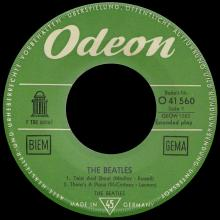 GERMANY 1963 06 OO - THE BEATLES - SLEEVE 2 - LABEL 1 - O 41 560 - GEOW 1283 - pic 1