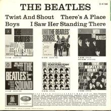 GERMANY 1963 06 OO - THE BEATLES - SLEEVE 3 - LABEL 1 - O 41 560 - GEOW 1283 - pic 1