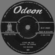 HOLLAND 011 - 1963 02 00 - LOVE ME DO ⁄ PLEASE, PLEASE ME - ODEON - 45-O 29469 - pic 1