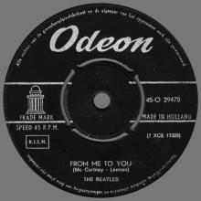 HOLLAND 020 - 1963 04 00 - FROM ME TO YOU - THANK YOU GIRL - ODEON - 45-O 29470 - pic 1