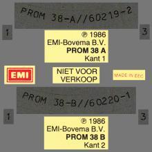HOLLAND 1986 08 09 PAUL MCCARTNEY - PROM 38 - 40 JAAR EMI BOVEMA - PRESS - 12INCH PROMO - pic 1
