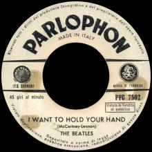 ITALY 1964 04 01 - PFC 7502 - P.S. I LOVE YOU / I WANT TO HOLD YOUR HAND   - pic 1