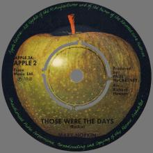 MARY HOPKIN - 1968 08 31 - THOSE WERE THE DAYS ⁄ TURN, TURN, TURN - FINLAND - APPLE 2 - pic 1