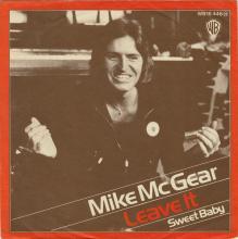 1974 09 06 - MIKE McGEAR - LEAVE IT ⁄ SWEET BABY - WARNER BROS - WB 16 446(N) - PROMO - GERMANY - pic 1