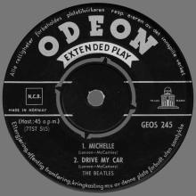 NORWAY EP 1966 03 00 - MICHELLE - GEOS 245 - LABEL BLACK ARCHED ODEON - pic 1