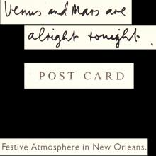 1975 PAUL McCARTNEY - POSTCARD UK - MPL 1975 - VENUS AND MARS ARE ALL RIGHT TONIGHT - 15X10,5 - pic 1