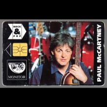 PAUL McCARTNEY - TELEPHONE CARD - CZECH REPUBLIC - pic 1