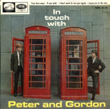 PETER AND GORDON - I DON'T WANT TO SEE YOU AGAIN - 7EPL 14.175 - SPAIN - EP -1 - pic 1