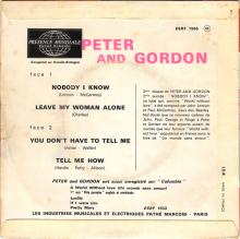 PETER AND GORDON - NOBODY I KNOW - ESRF 1566 - FRANCE - EP - pic 1