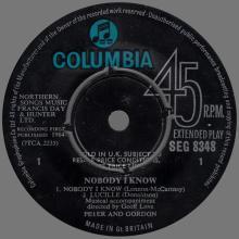 PETER AND GORDON - NOBODY I KNOW - GEP SEG 8348 - UK - EP - pic 1