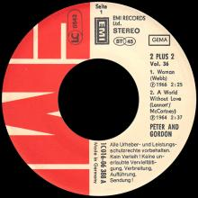 PETER AND GORDON - WOMAN ⁄ A WORLD WITHOUT LOVE ⁄ NOBODY I KNOW - 1C 016-06 388 - GERMANY - EP - pic 1